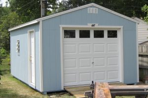 14x28 Garage with Garage Door